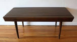coffee table picked vintage rounded corner slatted bench with ed edge hygena reese round 2 drawer
