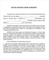 confidentiality agreement template confidentiality agreement non disclosure agreement sample non