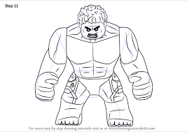 Lego Red Hulk Coloring Pages Mountainstyleco