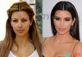 kim kardashian west and other celebrities without makeup