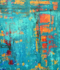 a window to the soul gina marie dunn fine art blue orange complementary colors abstract painting art painting abstract art diy acrylic