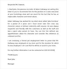 character letter of recommendation for a job custody letter of recommendation letter of recommendation