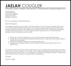 Icu Nurse Cover Letter Sample Best Ideas Of How To Make Your Cover