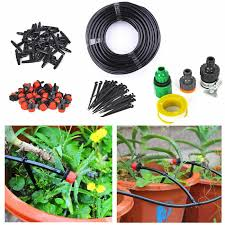 82 feet diy micro drip irrigation system plant self watering garden hose kit 16 99