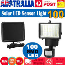 100 solar led sensor light pir motion outdoor security garden wall floodlights