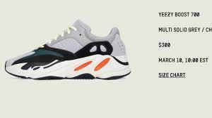 Yeezy 350 Size Chart Adidas Yeezy Boost 350 Size Chart