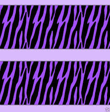 purple zebra animal print wallpaper border wall art decal teen girl room sticker