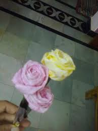 How To Make Rose Flower With Tissue Paper Tissue Paper Rose Flower A Paper Flower Decorating And