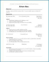 Factory Worker Resume Professional Resume Templates