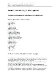 Quality Assurance Assistant Sample Resume Ha