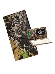 camo leather checkbook cover