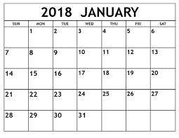 blank 2018 calendar 2018 blank calendar