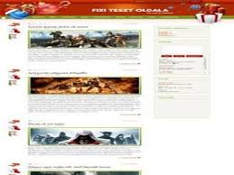 Free Christmas Website Templates White Red Christmas E107 Theme Free Download