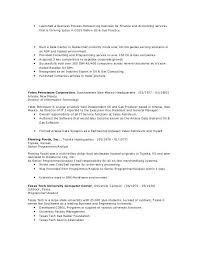 Business Process Specialist Sample Resume Nfcnbarroom Com
