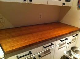reclaimed red oak countertop