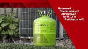 Honeywell Refrigerant Chart