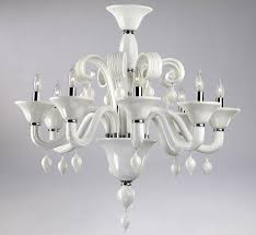 treviso 8 light large glass chandelier