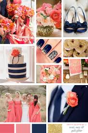 Coral Color Combinations Pretty Palette Coral Navy Gold Glitter Coral Navy Gold