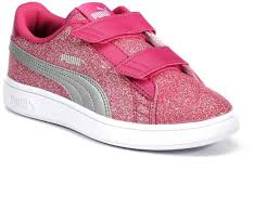 Puma Big Girl Size Chart Puma Smash V2 Glitz Glam Grade School Girls Water Resistant