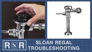 Troubleshooting A Sloan Regal Flushometer Repair And Replace