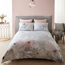 karl lagerfeld digital daisy duvet cover gray blush uk double amara