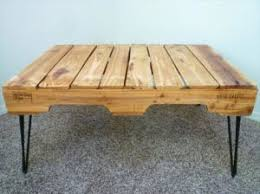 Reclaimed Pallet Wooden Coffee Table Hairpin Legs By Sunnyside Pallet Coffee Table With Hairpin Legs