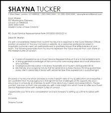 Sample Cover Letter For Patient Service Representative Guest Service