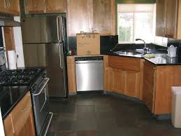 Tile Flooring In Kitchen Dark Kitchen Cabinets And Tile Floors Quicuacom