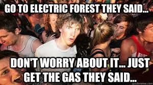 go to electric forest they said... don't worry about it... just ... via Relatably.com