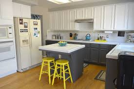 Easy Kitchen Makeover Before After Marias Pop Of Yellow Kitchen Makeover Thrift