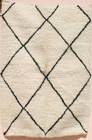 small rug black and white area natural wool throw diamond trellis lattice 3x5 rugs