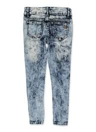 Vip Jeans Size Chart Girls 7 16 Vip Distressed Acid Wash Jeans