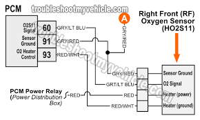 oxygen o2 sensor wiring diagrams 1997 4 6l f150 f250 right front oxygen o2s11 sensor wiring diagram 1997 ford 4 6l
