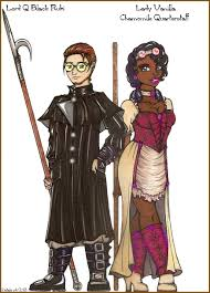 Lord Q Black Rubi and Lady Vanilla Chamomile Quarterstaff.