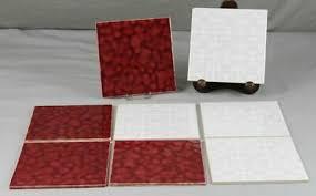Mit hilfe moderner und tra. 8 Alte Fliesen Kacheln V B Mettlach 1 Sorte Rot Weiss 15x15 Cm S361 Ebay