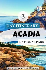 Tide Chart Thunder Hole Maine The Best 3 Day Itinerary Acadia National Park Pack More