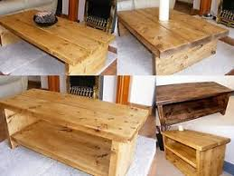 handmade tv stand. Interesting Stand Image Is Loading RUSTICCHUNKYCOFFEETABLETVSTANDSIDETABLE For Handmade Tv Stand T