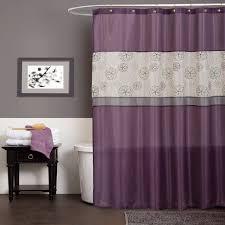 Purple Bathroom Bin Disney Princess Shower Curtain Set