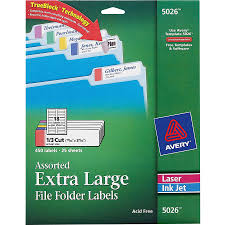 Avery Permanent Extra Large File Folder Labels With