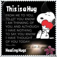 This Is A Hug From Me To You To Let You Know I Was Thinking Of You Adorable Thinking Of You Quotes