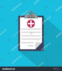 stylish page medical clipboard icon web site page stock vector 560385616