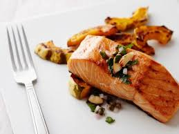 cooked salmon fillet.  Salmon Throughout Cooked Salmon Fillet