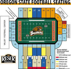 Oregon State Football Seating Chart Oregon State Beavers 2002 Football Schedule