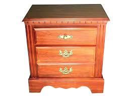 cherry wood nightstand. Cherry Finish Nightstand Wood Bedside Table . C