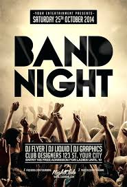 Concert Flyer Templates Free Band Flyers Template Flaky Me