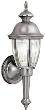 vaxcel ow3112bn capitol brushed nickel outdoor wall lighting sconce loading zoom