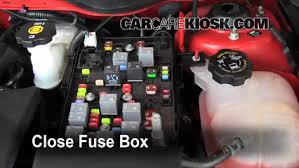 replace a fuse 2005 2010 chevrolet cobalt 2010 chevrolet cobalt 6 replace cover secure the cover and test component