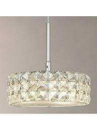 madison crystal glass pendant light