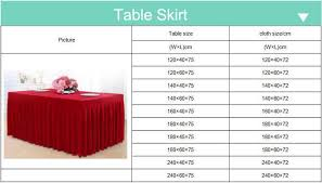 table skirting ribbon design