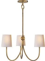 thomas obrien reed 3 light chandeliers hand rubbed antique brass